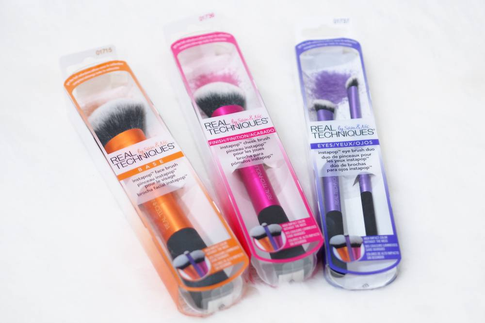 Real Techniques InstaPop Makeup Brush Collection Review - InstaPop Face Brush, Cheek Brush and Eye