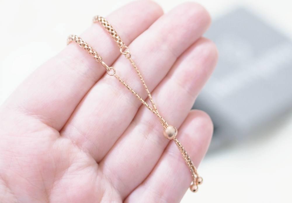 Inscripture Rose Gold Personalised Popcorn Bracelet