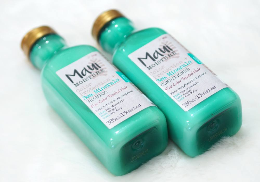 Maui Moisture Color Protection and Sea Minerals Collection Review