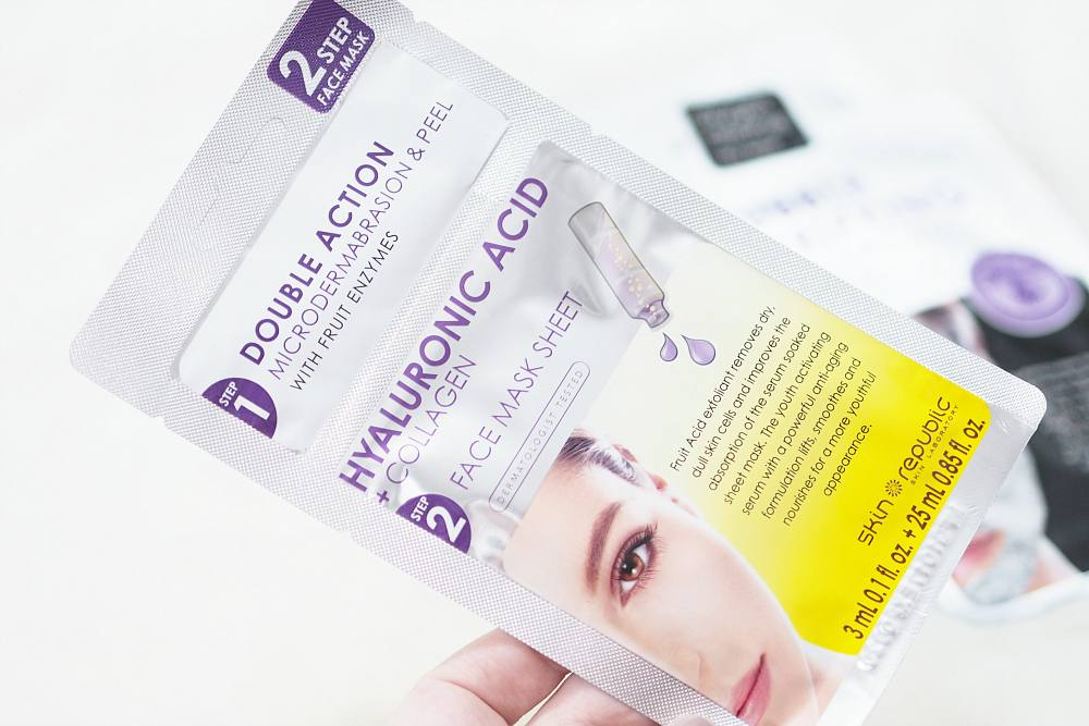 Review of the Skin Republic Sheet Masks ft Collagen Hydrogel Mask, Bubble Purifying Charcoal Mask and Hyaluronic Acid Collagen Mask