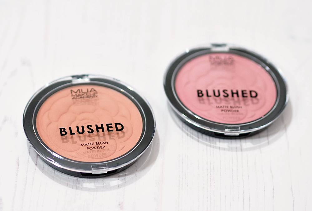 MUA Blushed Matte Blush Powders in Papaya Whip and Rose Tea Review and Swatches