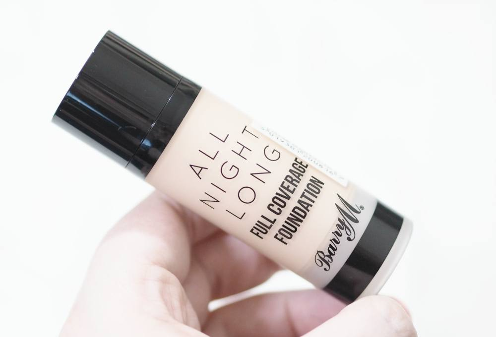 Review and Swatches of the Barry M All Night Long Full Coverage Foundation in the shade Milk - the liquid foundation version.