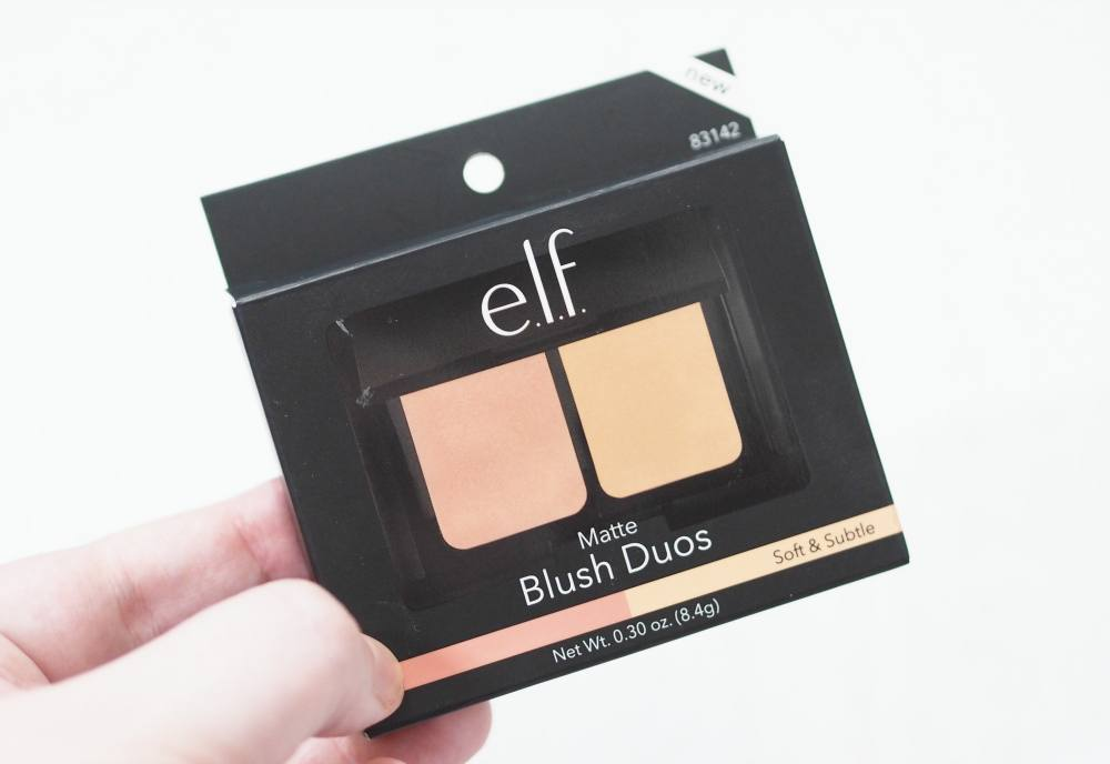 Review and Swatches of the ELF Matte Blush Duo in the shade Soft & Subtle - a duo of matte blushes in nude and peach shades.
