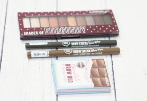Review and Swatches of the Misslyn Chocolate Factory Collection ft the Shades of Burgundy Palette, Brow Chicka Wow Wow Brow Pen and Chcolate Brow Duo