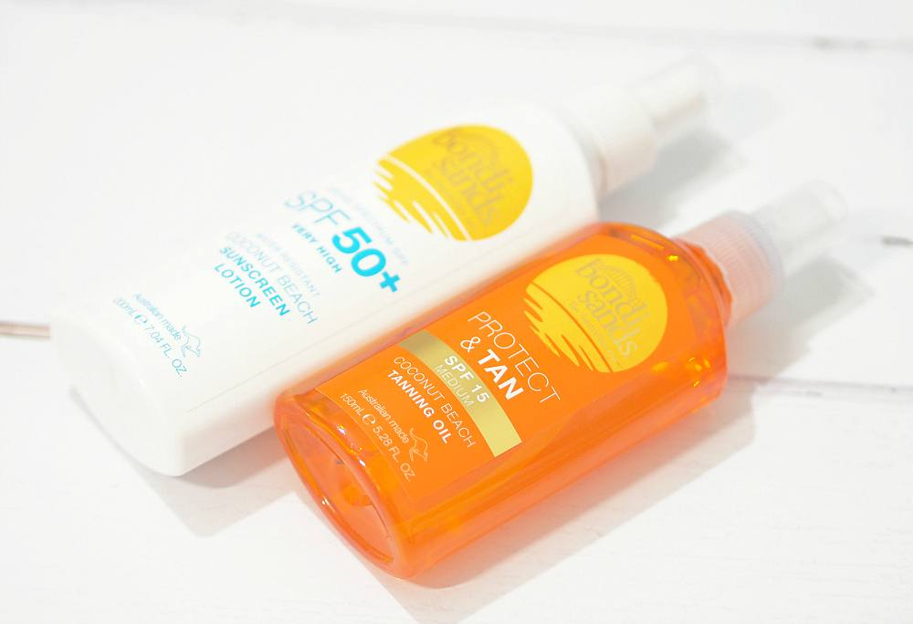 Bondi Sands Suncare Range Review with the Coconut Beach Sunscreen Lotion SPF50+ and Coconut Beach Protect + Tan Tanning Oil SPF15