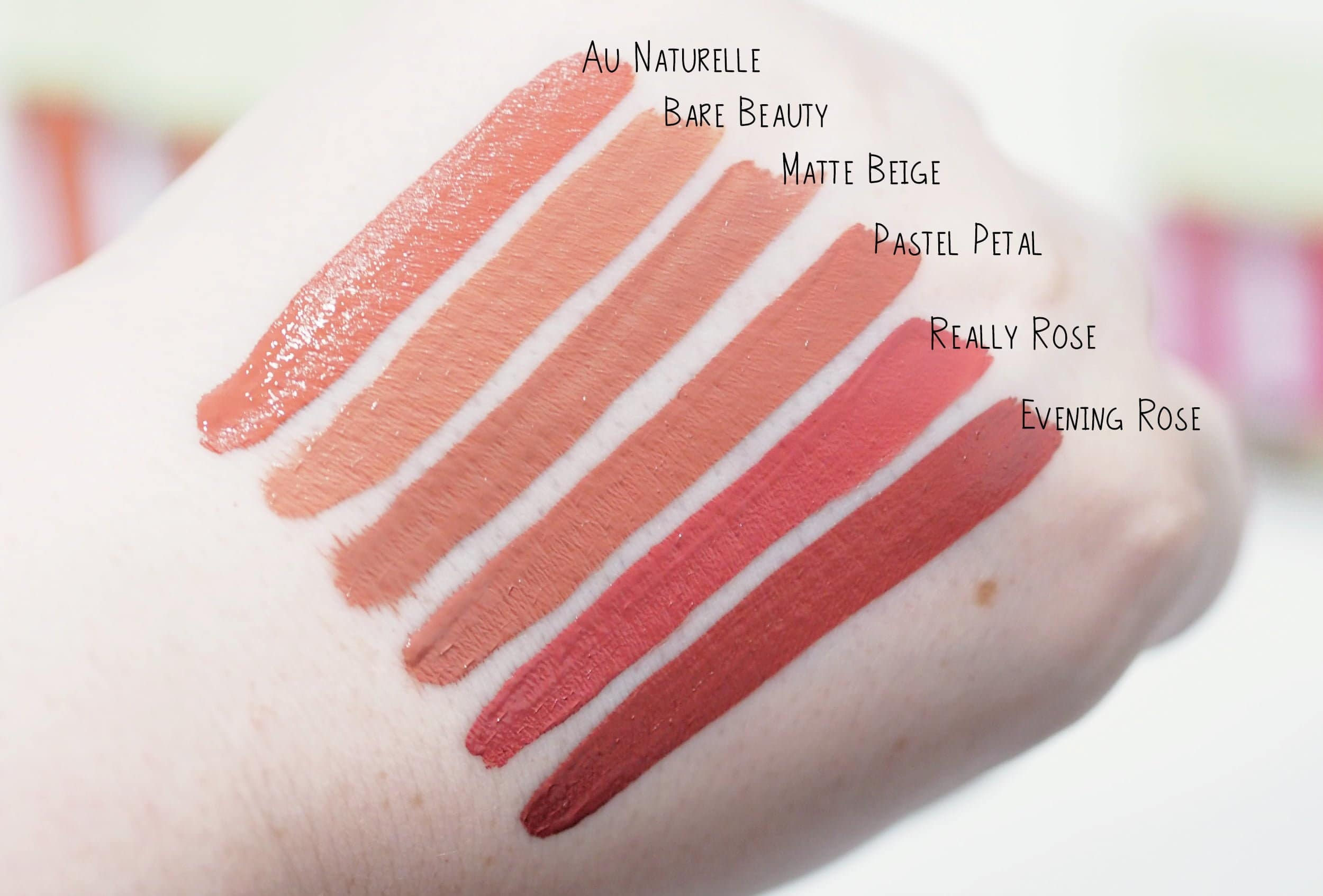 Review and Swatches of the Pixi MatteLast Liquid Lip Collection including all 11 shades ft. Au Naturelle, Bare Beauty, Matte Beige, Pastel Petal and more
