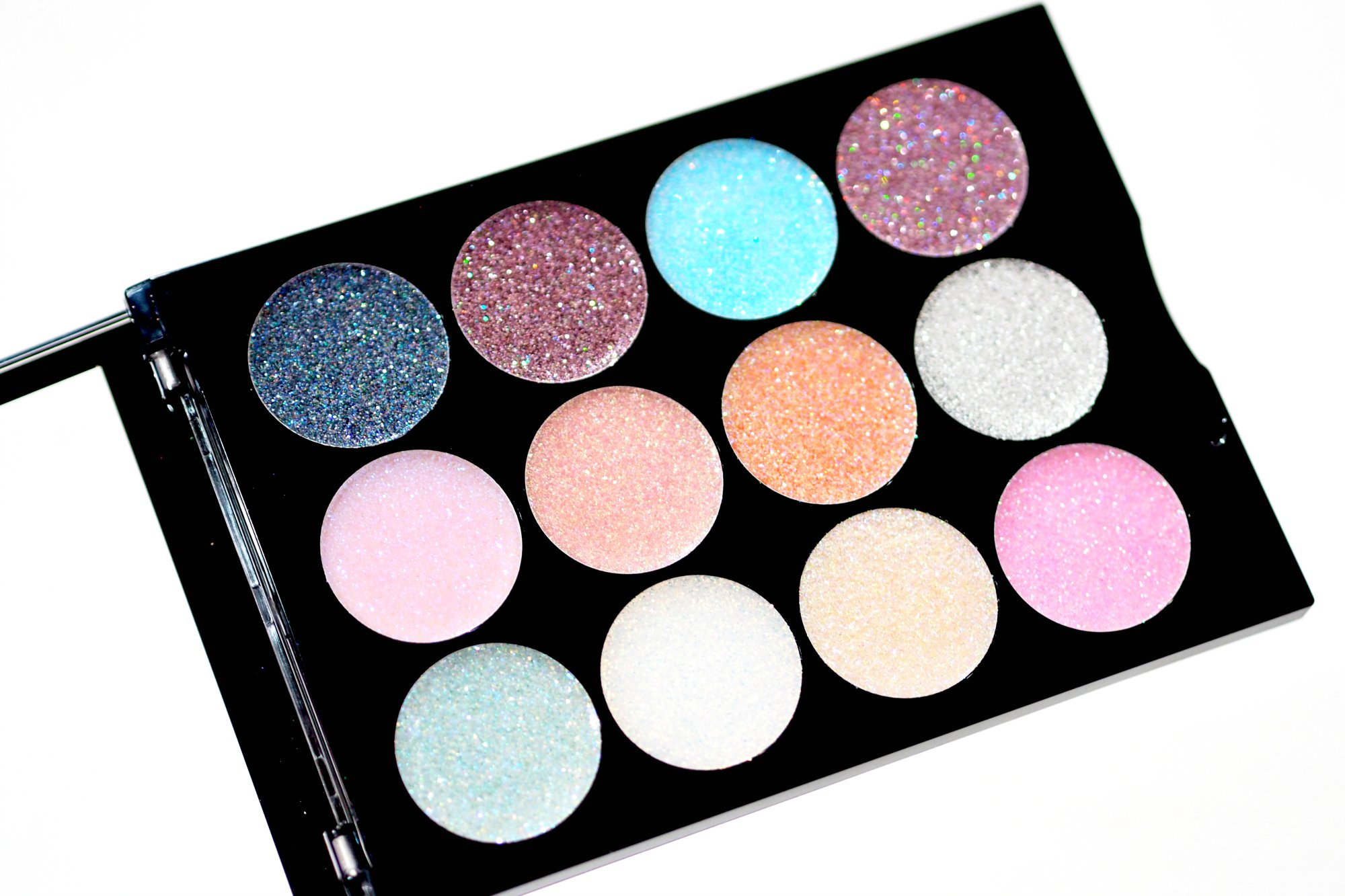 MUA Ultra Sparkle Palette in Cotton Candy Face and Body Glitter Gels - Review and Swatches
