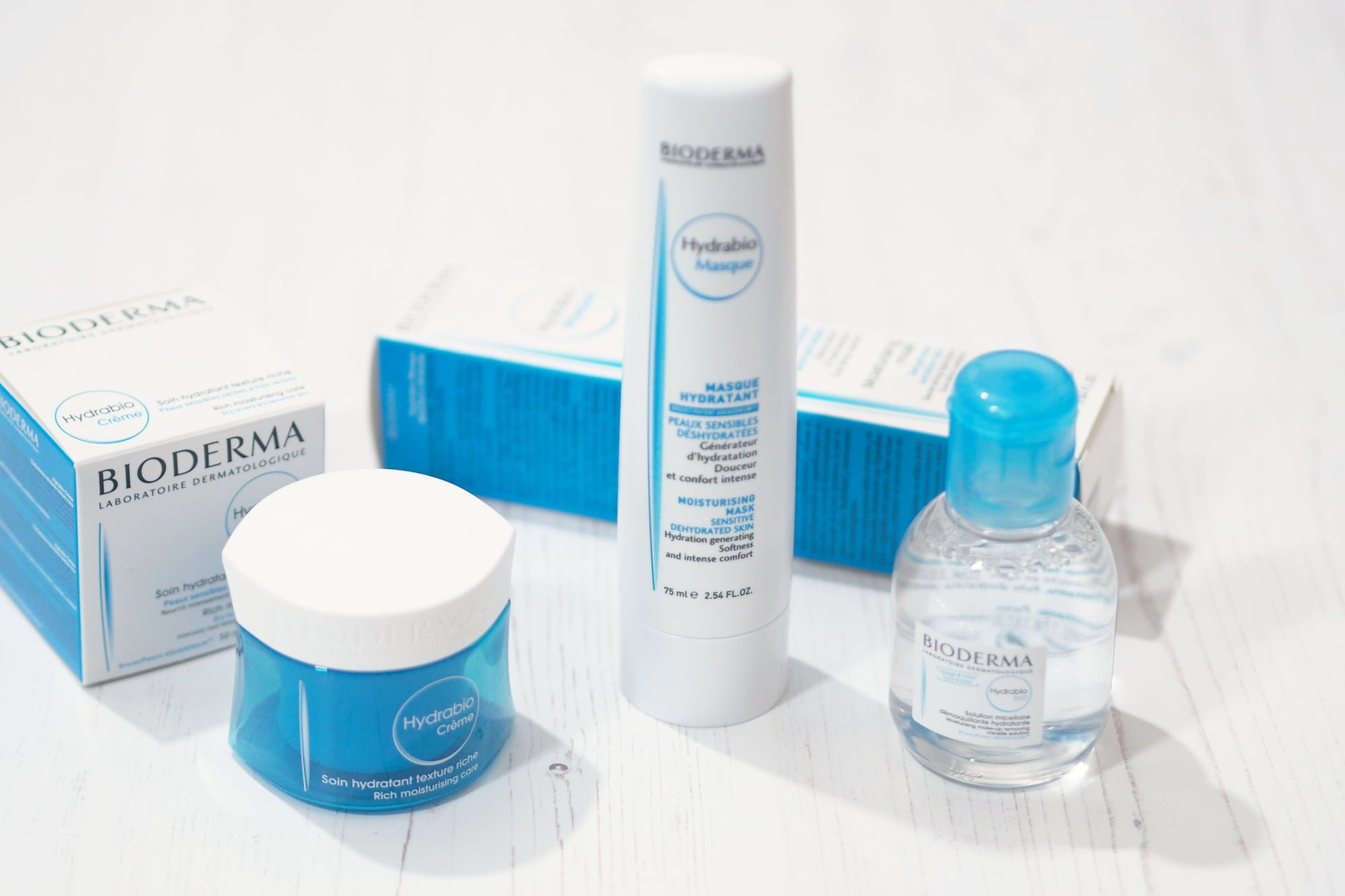 Bioderma Hydrabio Collection ft. Hydrabio Creme, Hydrabio Mask and Hydrabio H2O
