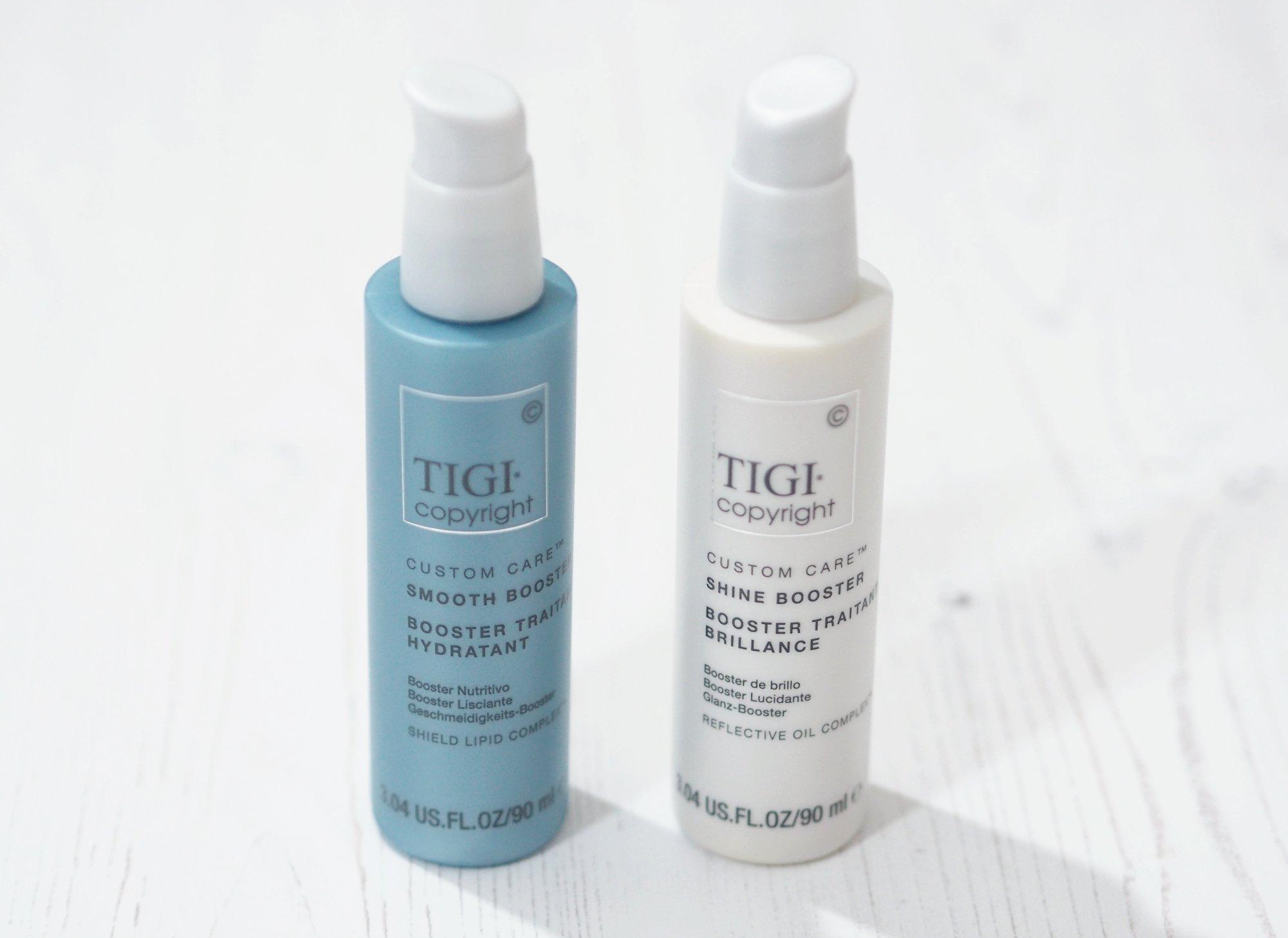 TIGI Copyright Custom Care Smooth Booster and Shine Booster