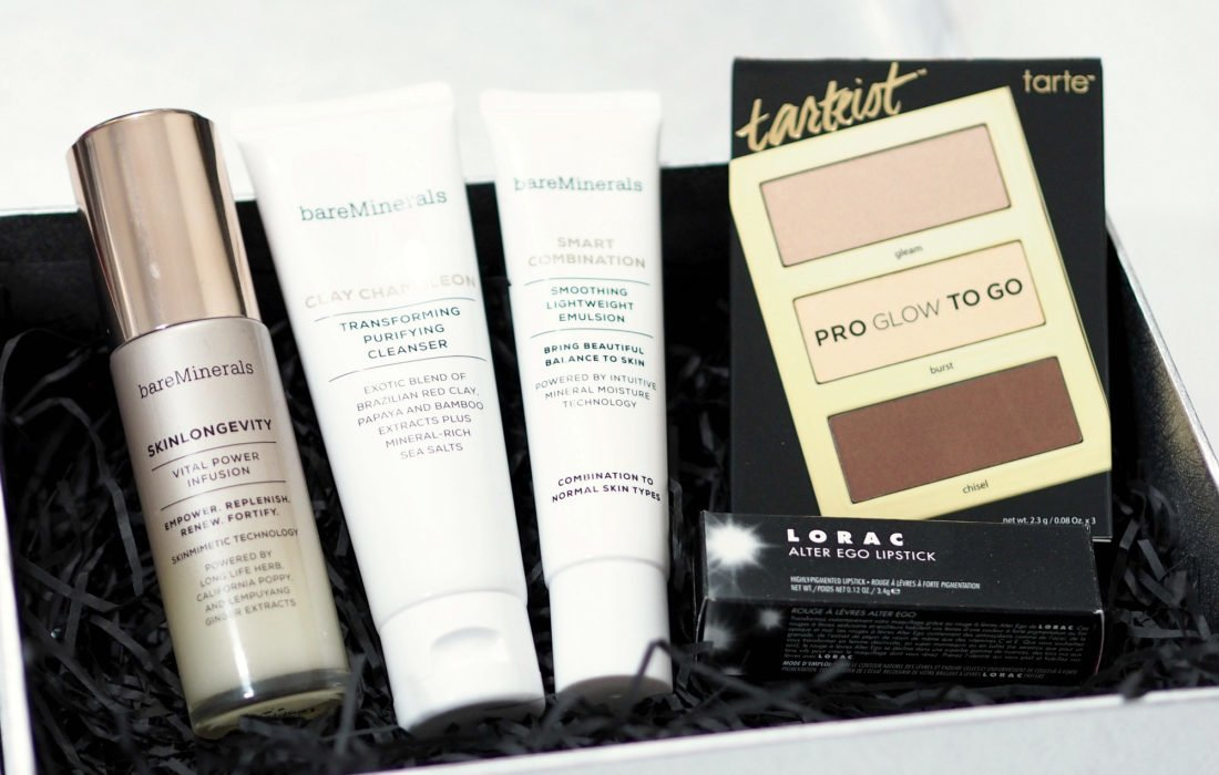 Unboxing and First Impressions of the Look Incredible November Deluxe Beauty Box 2018 featuring Tarte, BareMinerals, Lorac with makeup and skincare