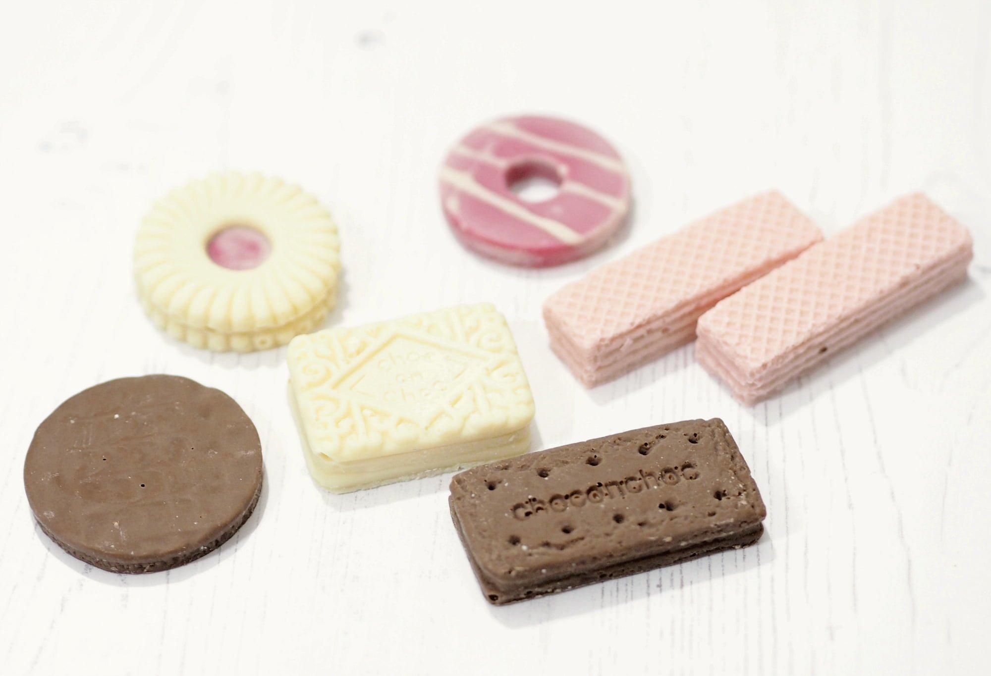 Choc on Choc Biscuit Chocolates