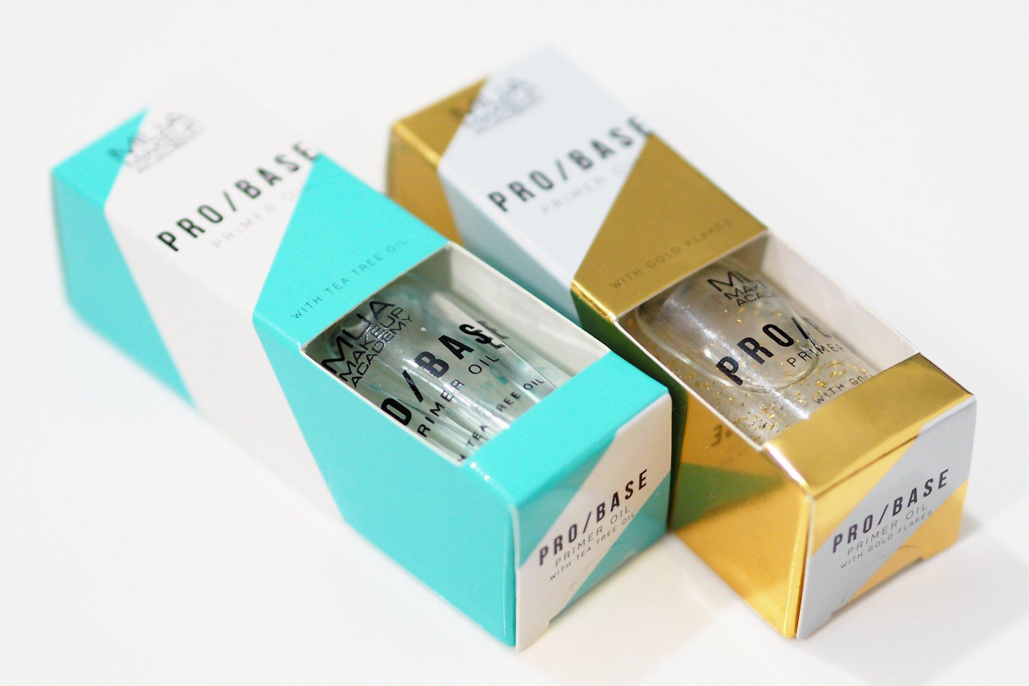 MUA Pro Base Primer Oils - Tea Tree Primer Oil and Gold Flakes Primer Oil Review