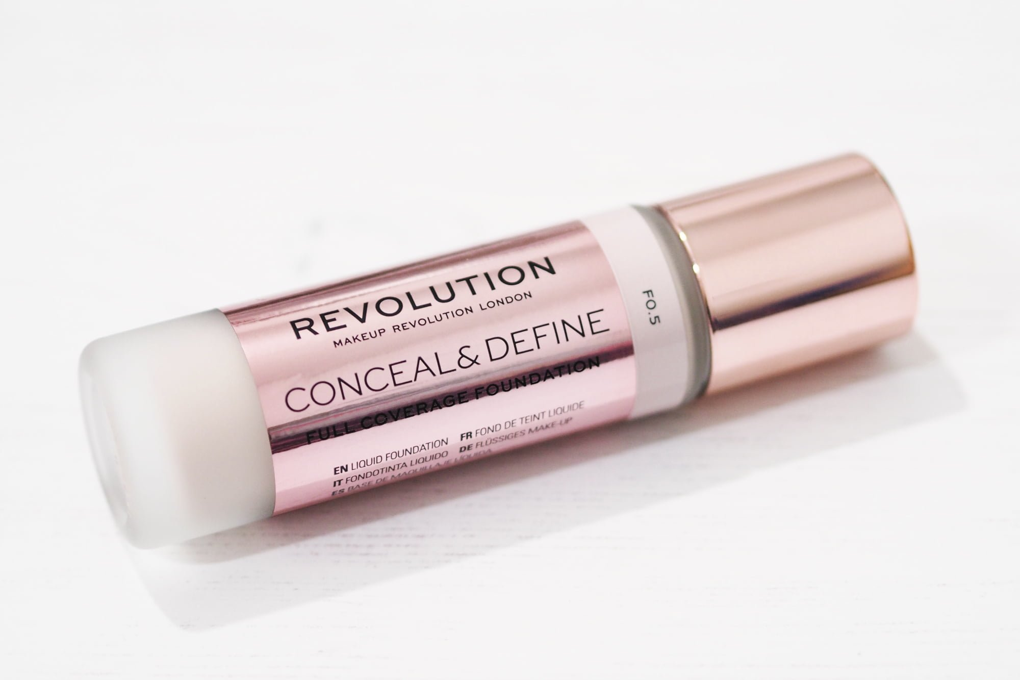 Revolution Conceal and Define Full Coverage Foundation - Review and Swatches