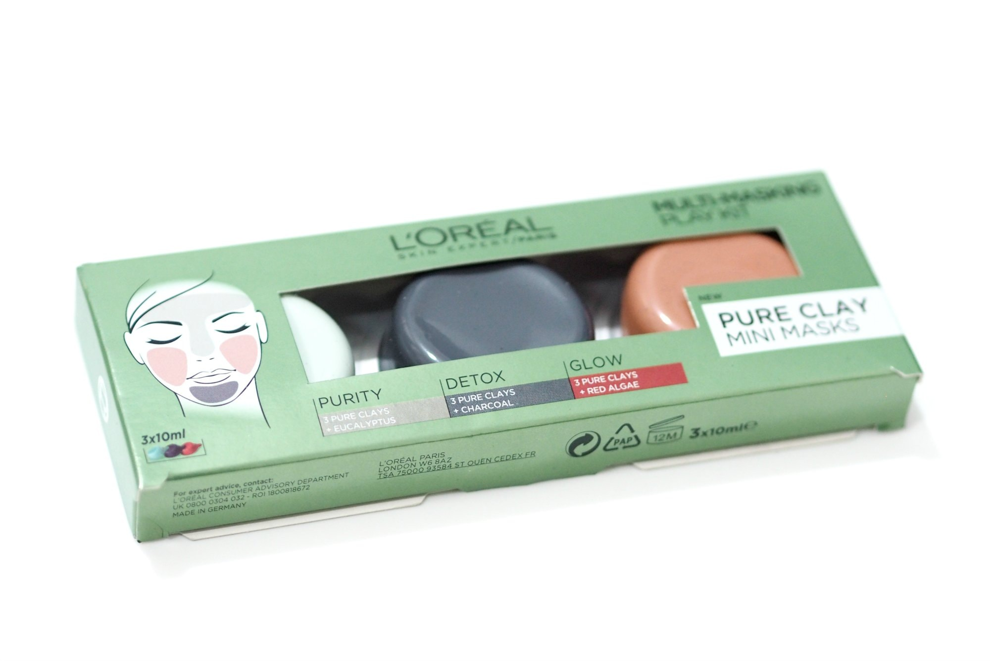 L'Oreal Pure Clay Face Masks / Loreal Pure Clay Face Masks