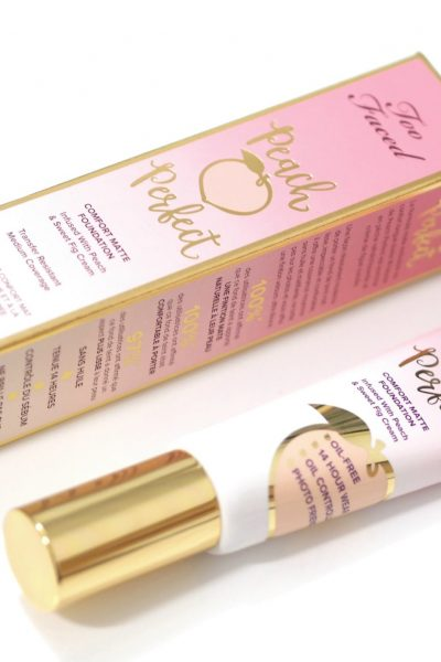 Too Faced Peach Perfect Comfort Matte Foundation Review and Swatches in the shade Swan