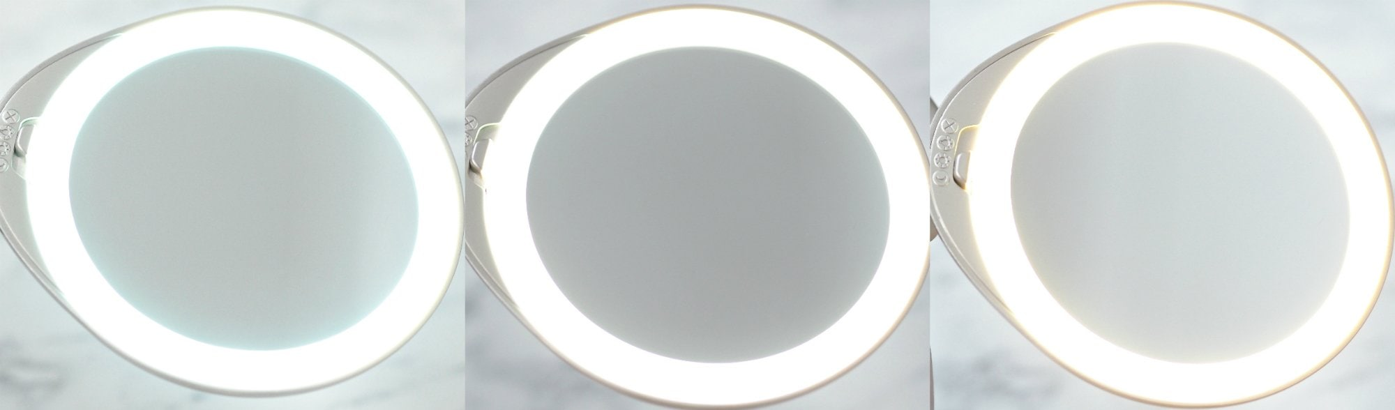 Tweezerman Adjustable Lighted Mirror Review - Mirror with three light settings