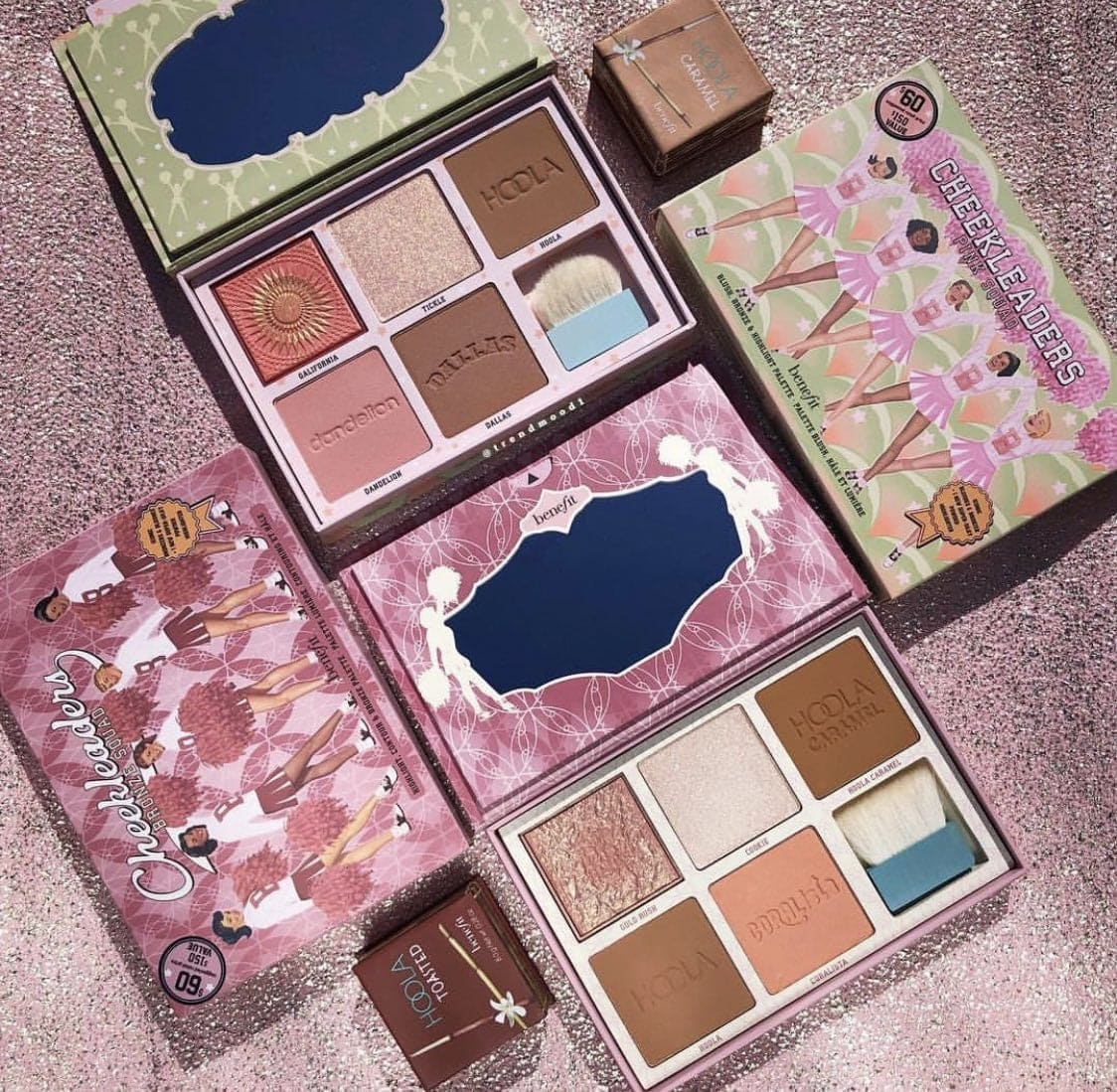 Benefit Cheekleaders Blusher, Highlighter and Bronzer Palettes