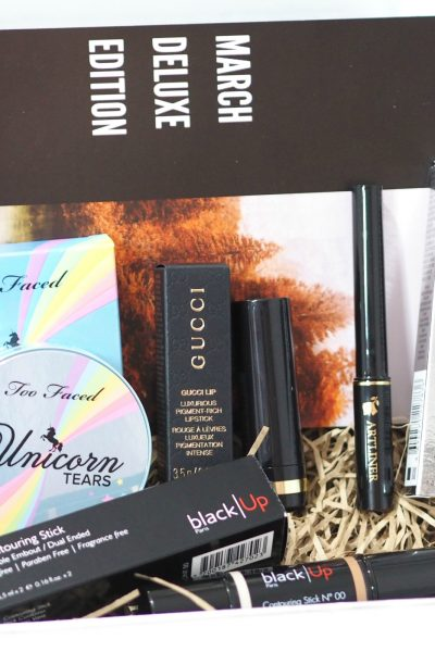 Look Incredible March Deluxe Beauty Box 2019 with Black Up, Gucci, Lancome and Too Faced Unboxing and First Impressions