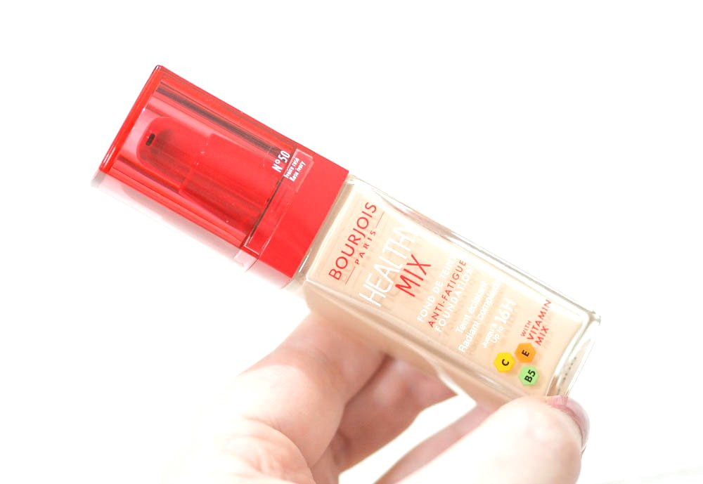 Bourjois Healthy Mix Foundation Review and Swatches in Rose Ivory 50