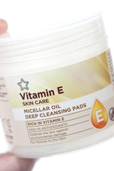 Superdrug Vitamin E Micellar Oil Deep Cleansing Pads