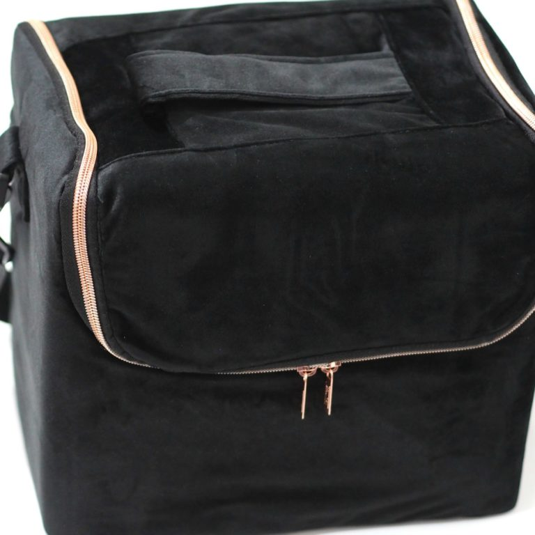Beautify Black Velvet Makeup Case