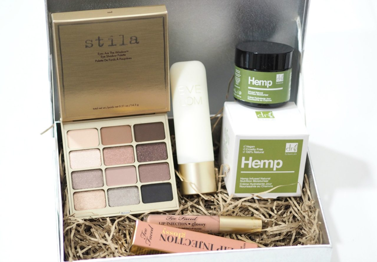 Look Incredible April Deluxe Beauty Box 2019 Unboxing and First Impressions with Eve Lom, Dr Botanicals, Too Faced and Stila