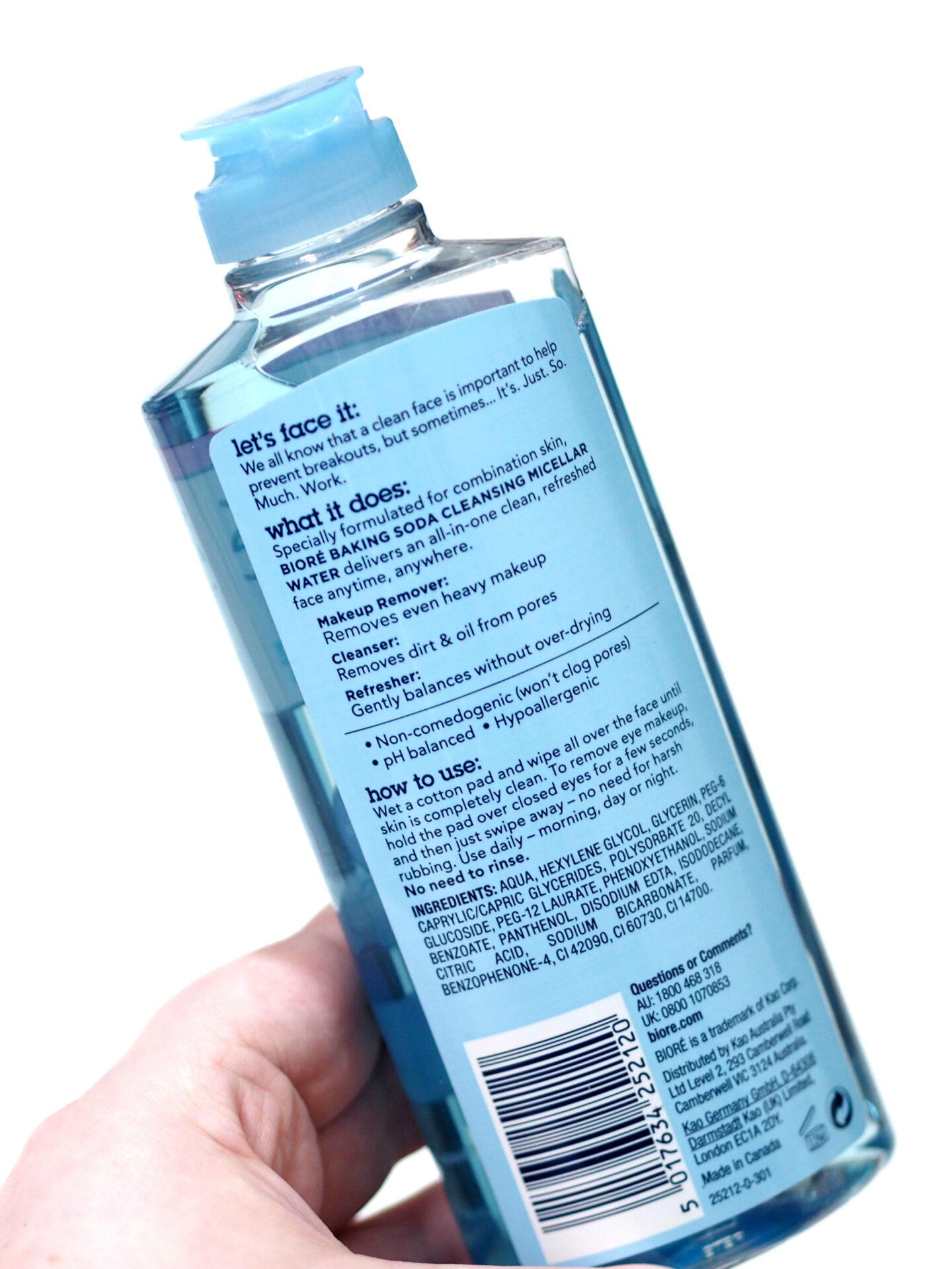 Biore Baking Soda Cleansing Micellar Water