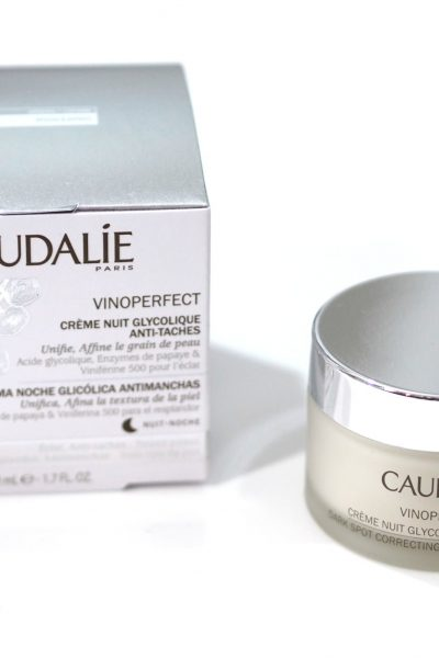 Caudalie's glycolic acid based night cream to correct dark spots