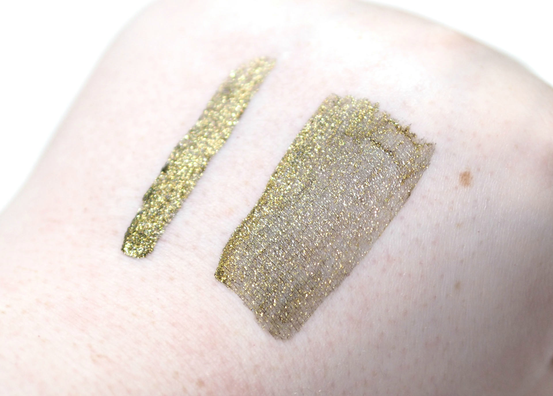 QIBEST Shimmer Liquid Eyeshadow Review and Swatches in shade 13 Matcha