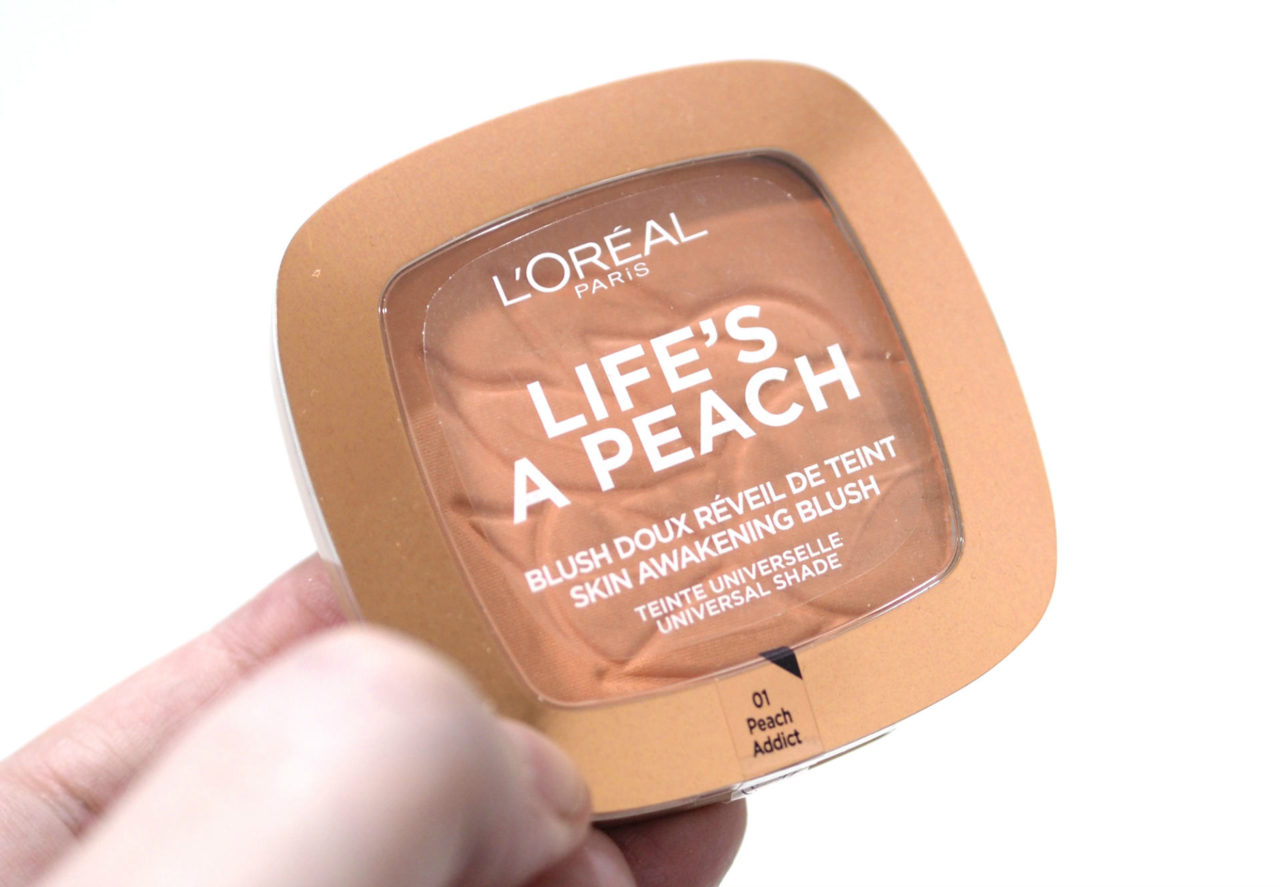 L'Oreal Life's a Peach Skin Awakening Blush Review Swatches
