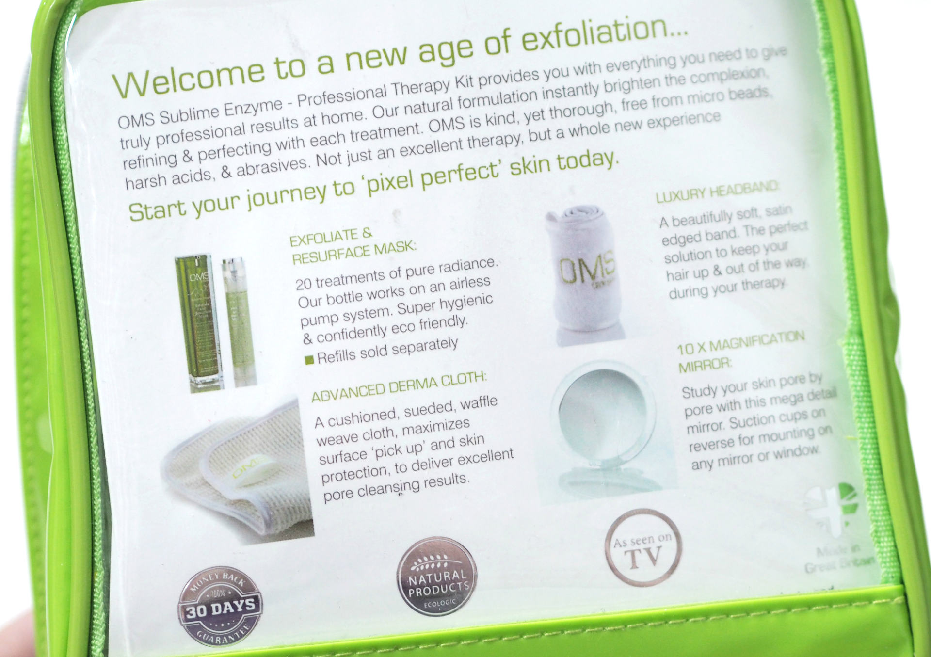 OhMySkin Sublime Enzyme Exfoliate and Resurface Home Therapy Kit