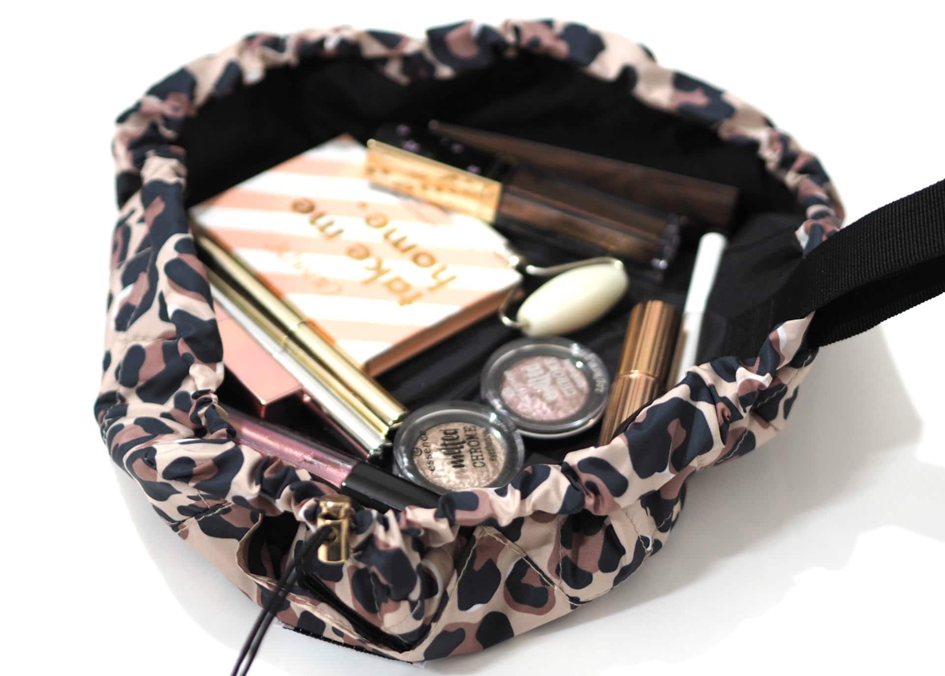 The Flat Lay Co Mini Leopard Makeup Bag