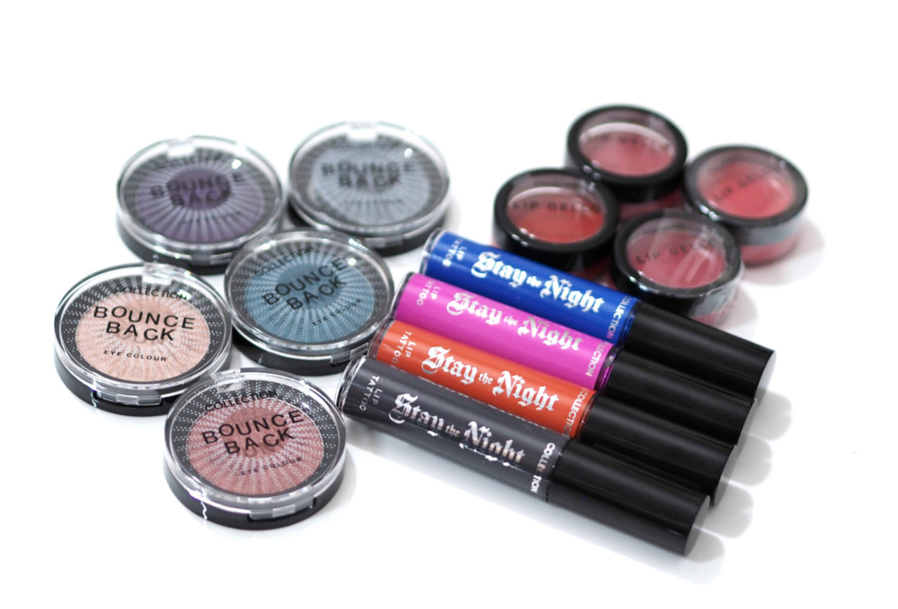 Collection Lip Gello, Bounce Back Eyeshadows and Stay The Night Lip Tattoos Review and Swatches