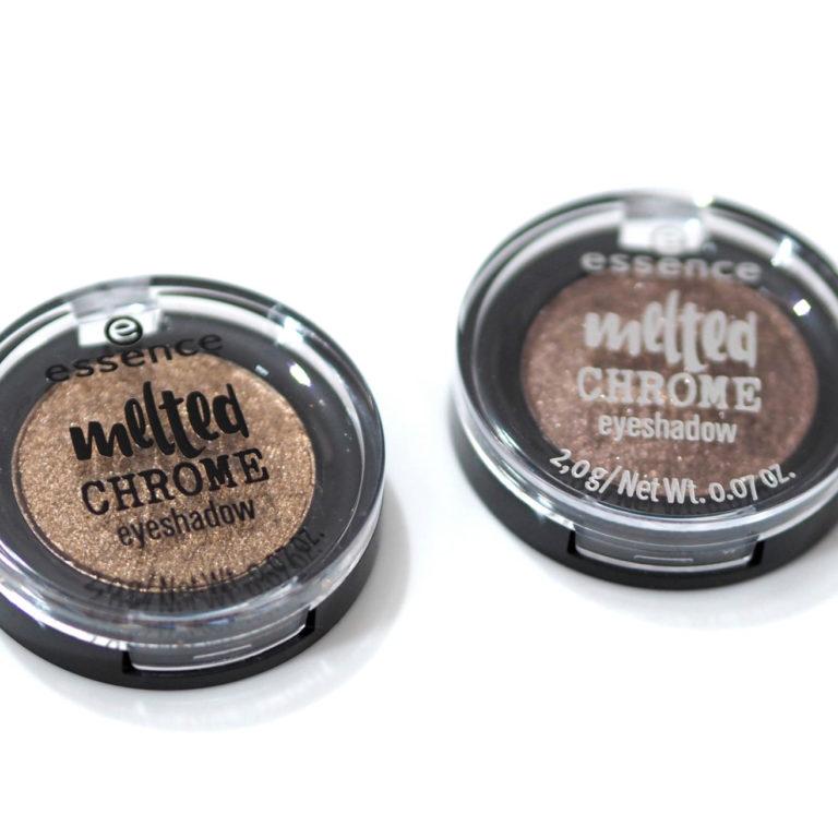 Essence Golden Crown and Warm Bronze Melted Chrome Eyeshadows