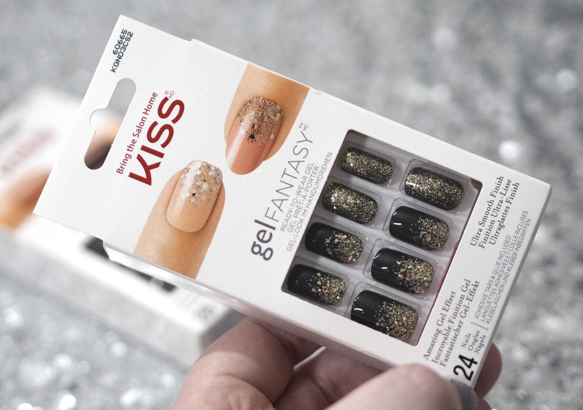 Kiss Gel Fantasy Ready to Wear Gel Nails - Ab Fab and Painted Veil