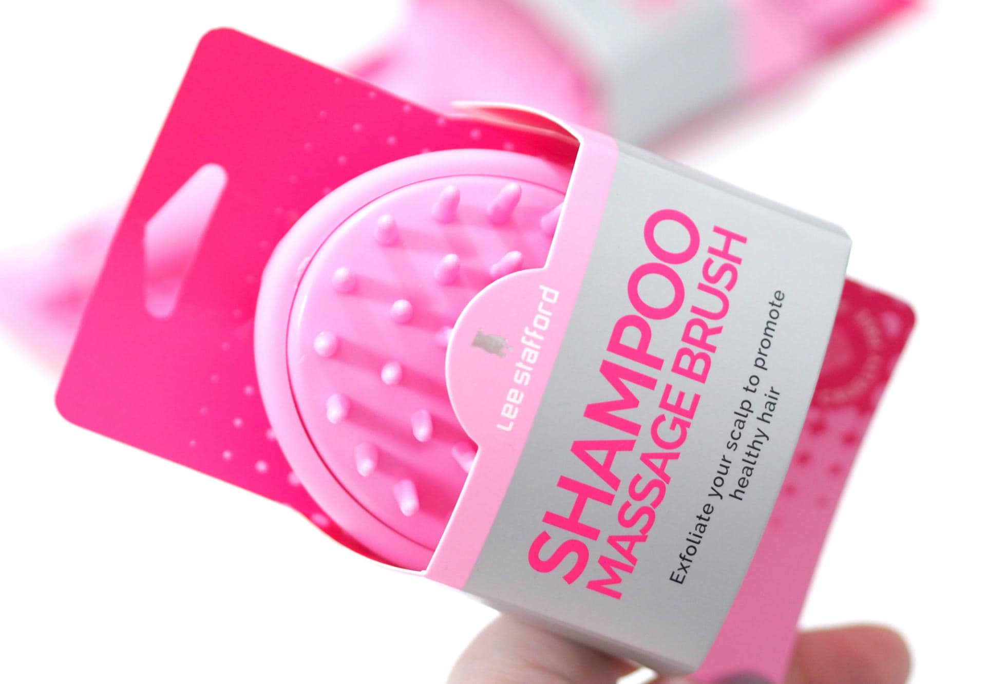 Lee Stafford Shampoo Massage Brush and Smooth & Polish Paddle Brush