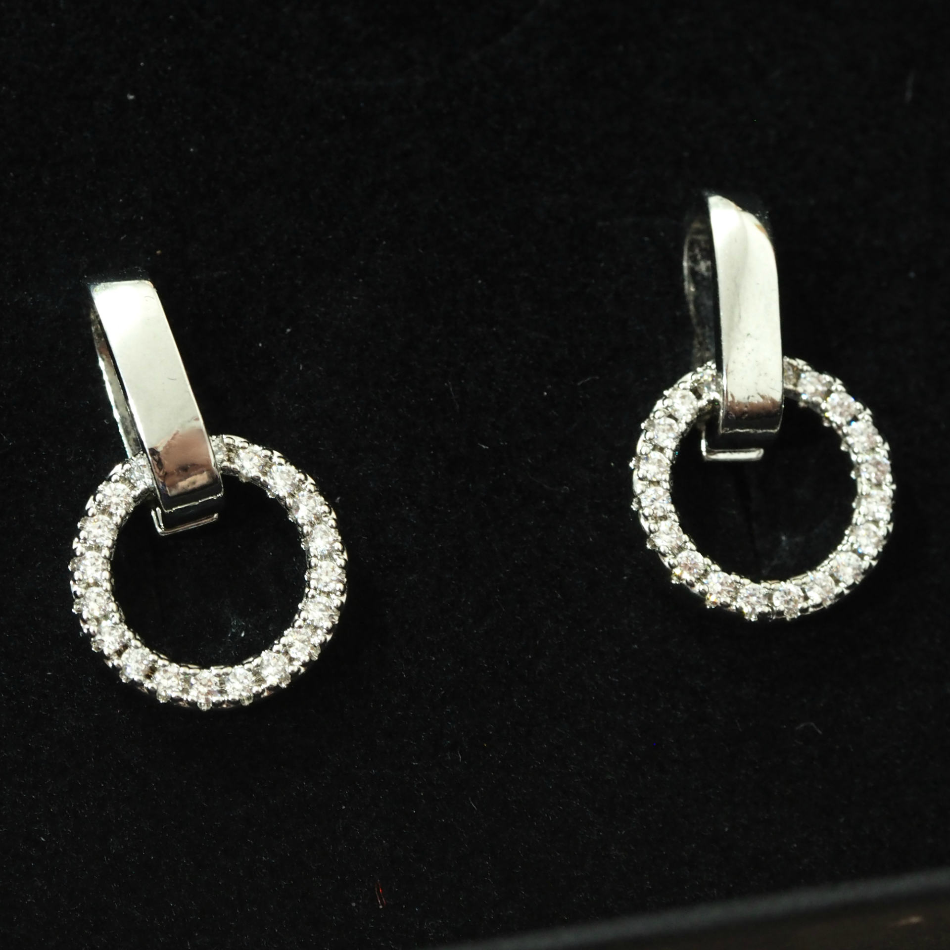 Lisa Edwards Halo Crystal Drop Earrings