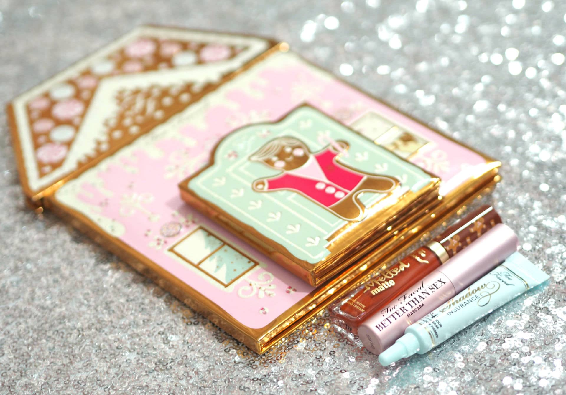 Too Faced Christmas Cookie House Party Swatched