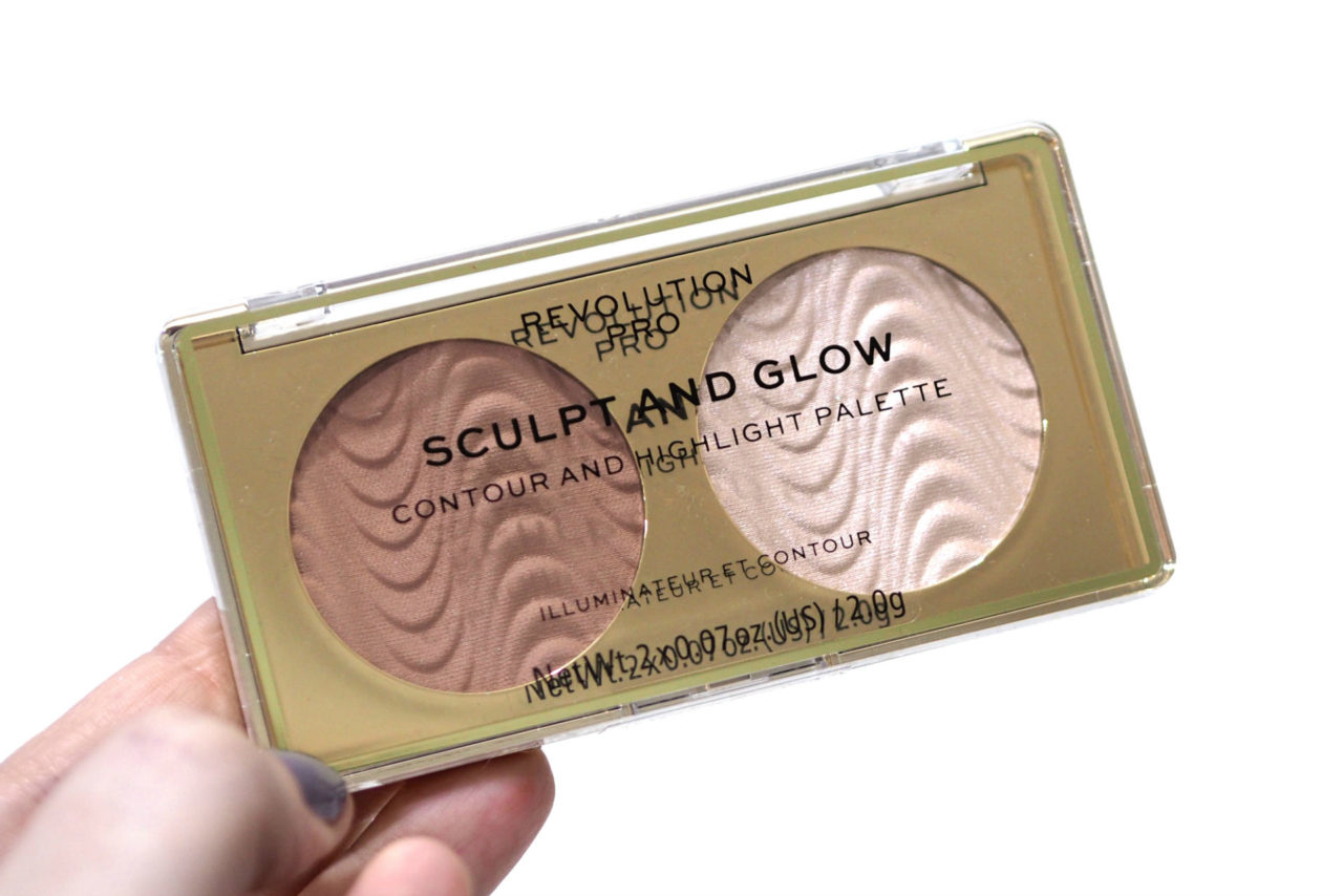 Revolution Pro Sculpt and Glow Contour and Highlight Palette Review Swatches