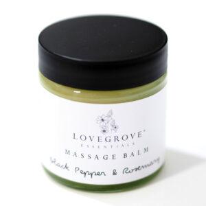 Lovegrove Essentials Black Pepper & Rosemary Massage Balm