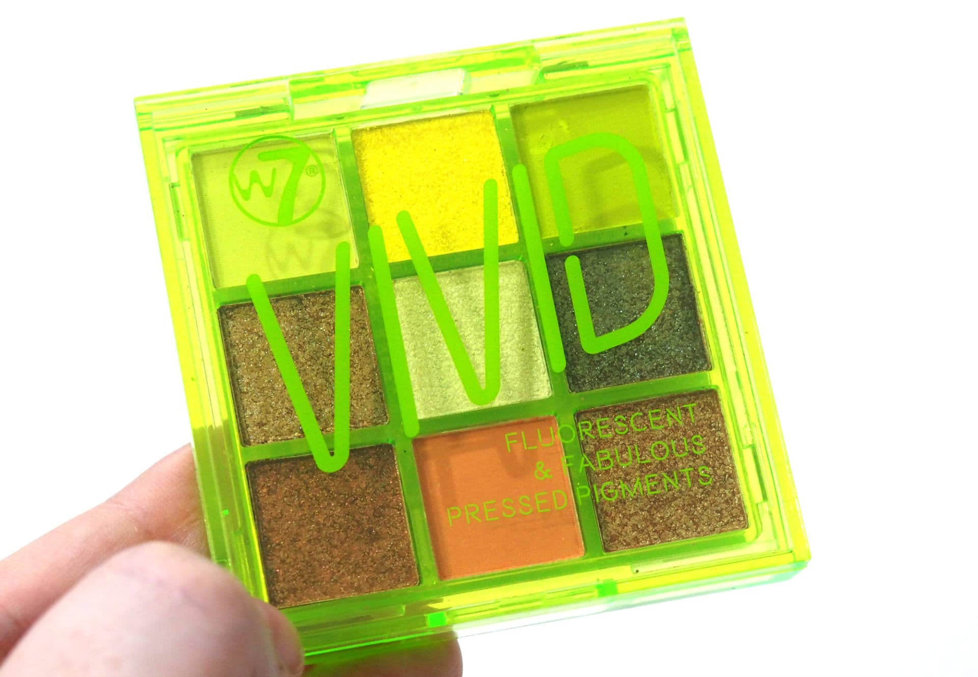 W7 Vivid Glowin Green Palette Review and Swatches