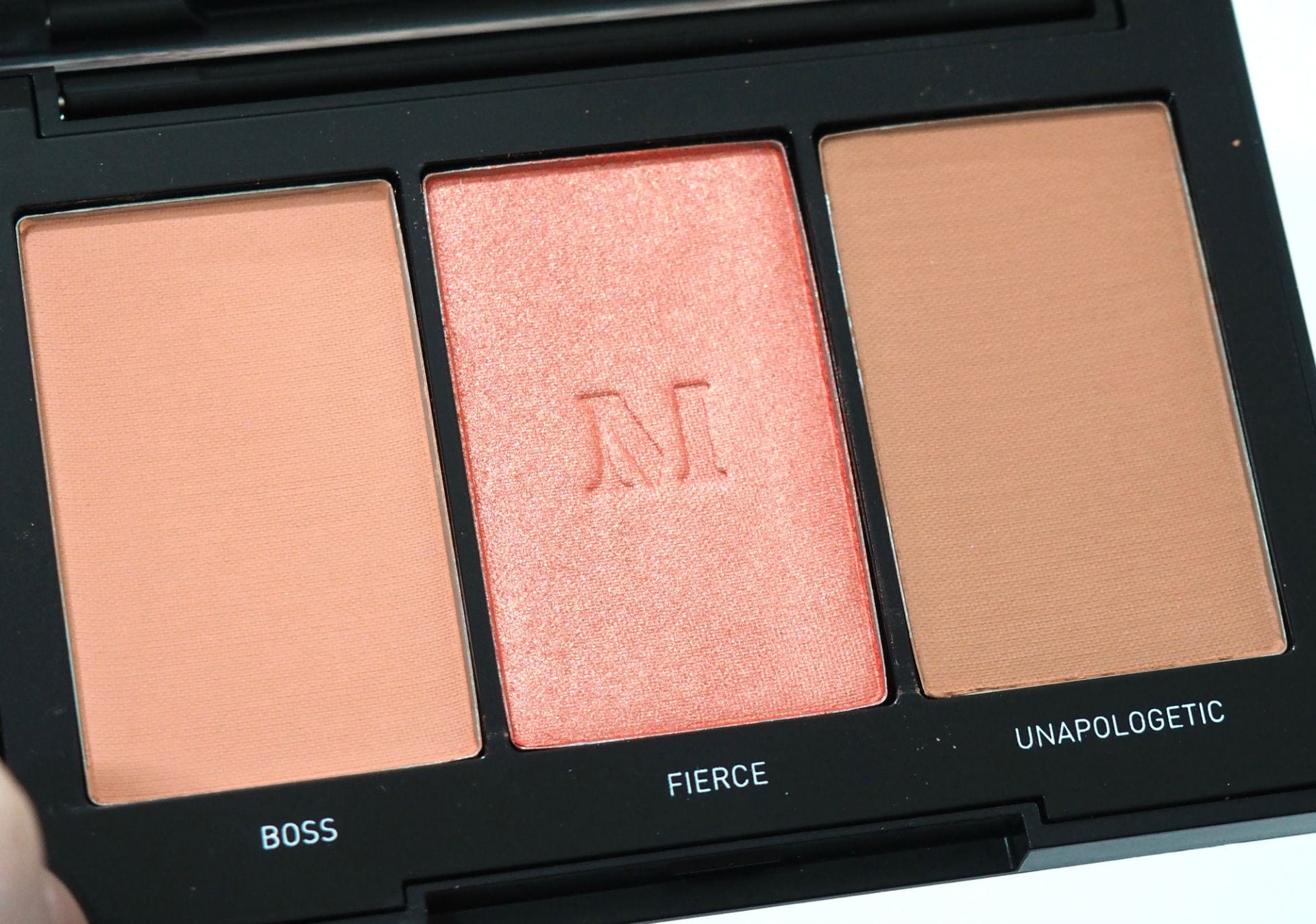 Morphe Blushing Babes Blush Trio in Pop of Coral Review and Swatches